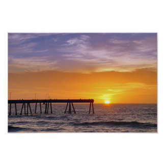 Pacifica Pier Sunset Poster