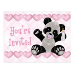 Pacified Panda Postcard Baby Shower Invitation