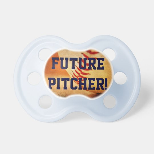Pacifier Baseball Future Pitcher Blue
