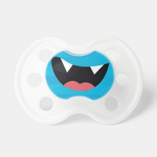 PACIFIER cute vampire monster MOUTH aqua blue