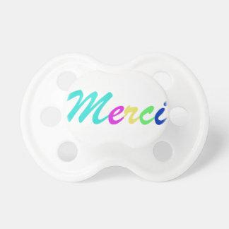 Pacifier MERCI colours