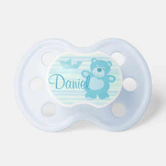 Pacifier osito and boat green color with name