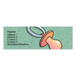 Pacifier Skinny Profile Cards Business Card