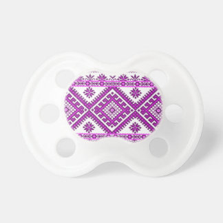 Pacifier Soother Ukrainian Embroidery Print