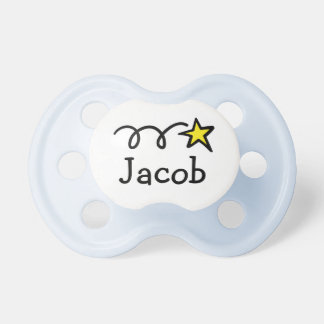 Pacifier / Soother with name Jacob, William, Ethan