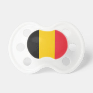 Pacifier with flag of Belgium