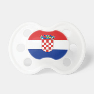 Pacifier with flag of Croatia