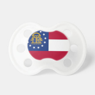 Pacifier with flag of Georgia, U.S.A.