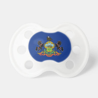 Pacifier with flag of Pennsylvania, U.S.A.