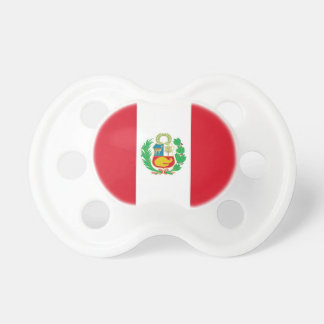 Pacifier with flag of Peru