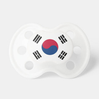 Pacifier with flag of South Korea