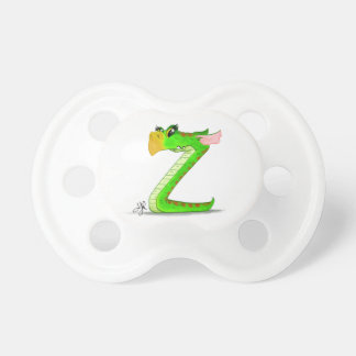 "Pacifier with ""Z"" Monster Character"