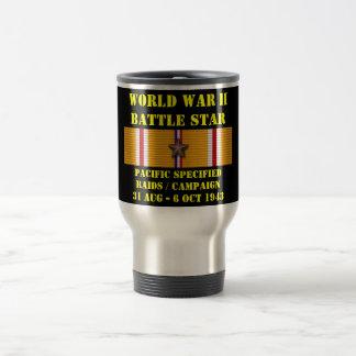 Pacifique a spécifié la campagne d'incursions mug de voyage en acier inoxydable