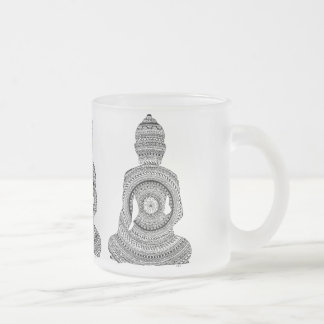 Pack glass GraphiZen Buddha Frosted Glass Coffee Mug