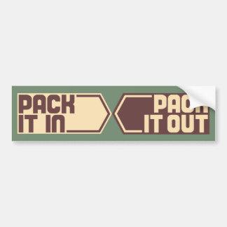 Pack It In, Pack It Out Bumper Sticker