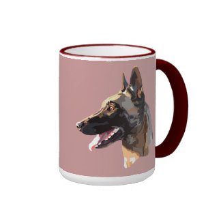 pack malinois ringer coffee mug
