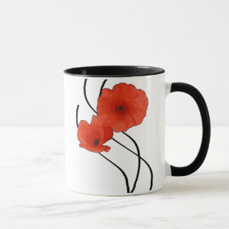 Pack matched Coquelicots Abstract Mug