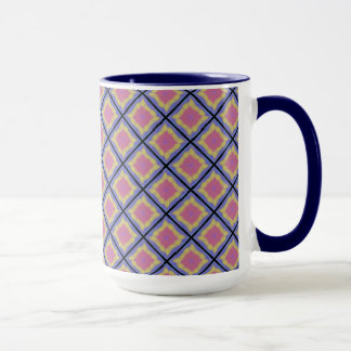Pack MUG Jimette Design Pink yellow and lilac