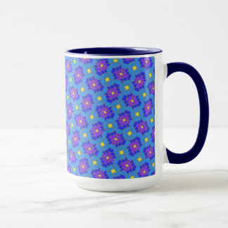 Pack MUG mauve Jimette Design blue yellow
