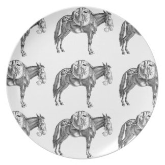 pack mule prayer plate