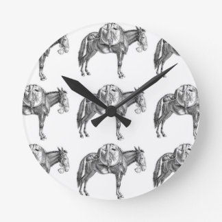 pack mule prayer round clock