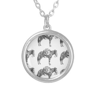 pack mule prayer silver plated necklace