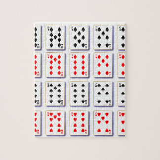 Pack of Cards On White Jigsaw Puzzle