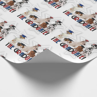 Pack of Dogs in Graduation Caps for Pet Lover Wrapping Paper