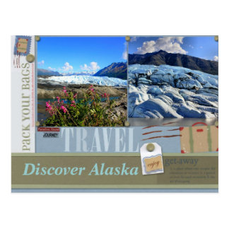 Pack Your Bags to Alaska Postcard