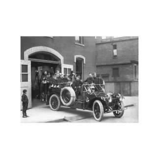 Packard Fire Truck 1910 Canvas Print