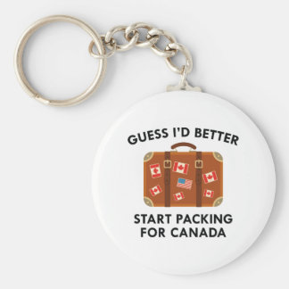 Packing For Canada Basic Round Button Keychain