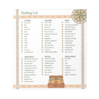 Packing List - Notepad