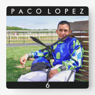 Paco Lopez Square Wall Clock