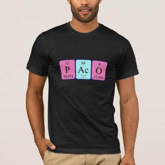 Paco periodic table name shirt