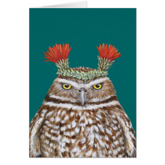 Paco the burrowing owl card