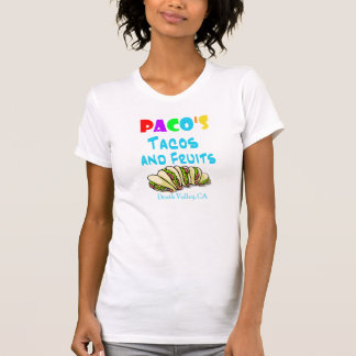 Pacos Tacos Shirt (2-sided womans fitted)