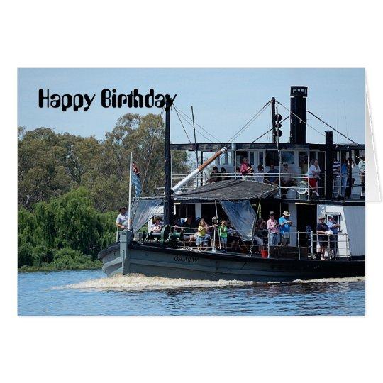 Paddle Boat Birthday Card