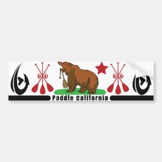 Paddle California Bumper Sticker