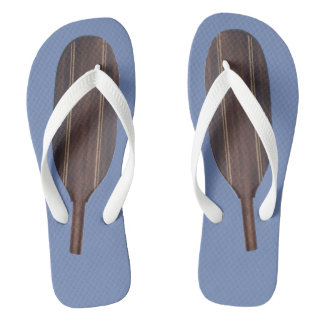 Paddle Flip Flops - Dark Wood