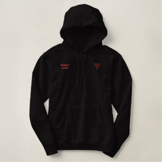 Paddle hard embroidered hoodie