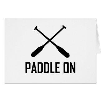 Paddle On Lake Life Card