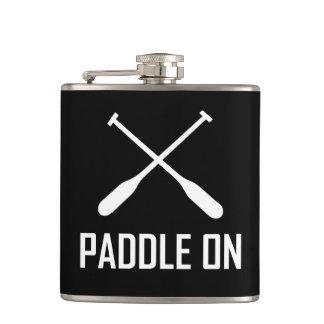 Paddle On Lake Life Hip Flask