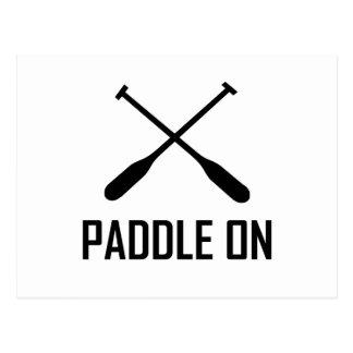 Paddle On Lake Life Postcard