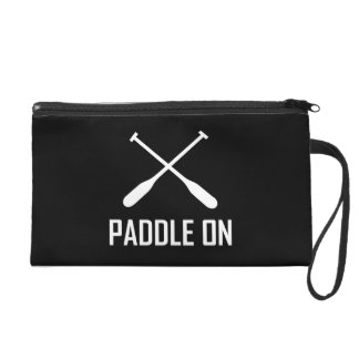 Paddle On Lake Life Wristlet