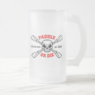 Paddle or Die Yakinmo.com Glass Beer Frosted Glass Beer Mug