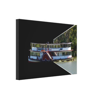 Paddle Steamer Dimensional Art, Canvas Print