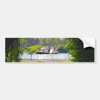 Paddle_Steamer_River_Murray_Bumper_Sticker Bumper Sticker