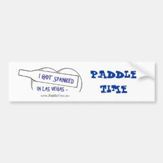 PADDLE TIME BUMPER STICKER