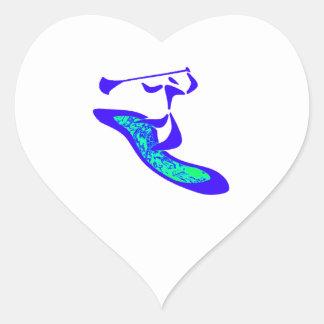 Paddle Up Heart Sticker