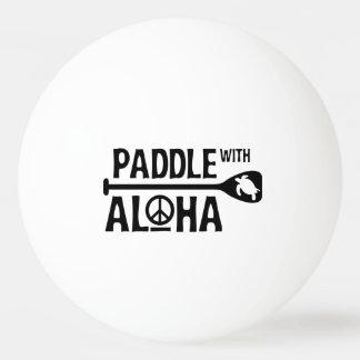 Paddle With Aloha - Ping Pong Ball - Black Turtle